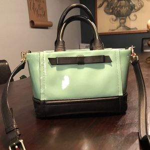 Kate Spade Satchel w/ Bow Mint and Black Crossbo